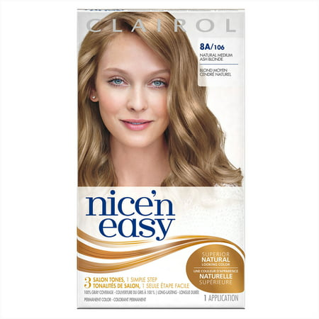 Clairol Nice N Easy Permanent Hair Color 8a106 Natural Medium Ash