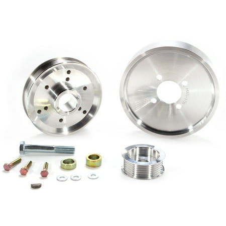 BBK PERFORMANCE 1559 April 01-04 MUSTANG GT/2000-02 COBRA 4.6L 3 PC UNDERDRIVE PULLEY KIT (ALUMINUM)