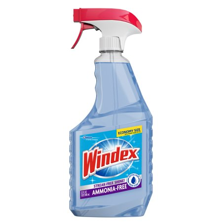 (2 pack) Windex Ammonia-Free Glass Cleaner Trigger Bottle, Crystal Rain, 32 fl (Ammonia To Water Ratio For Cleaning Windows)
