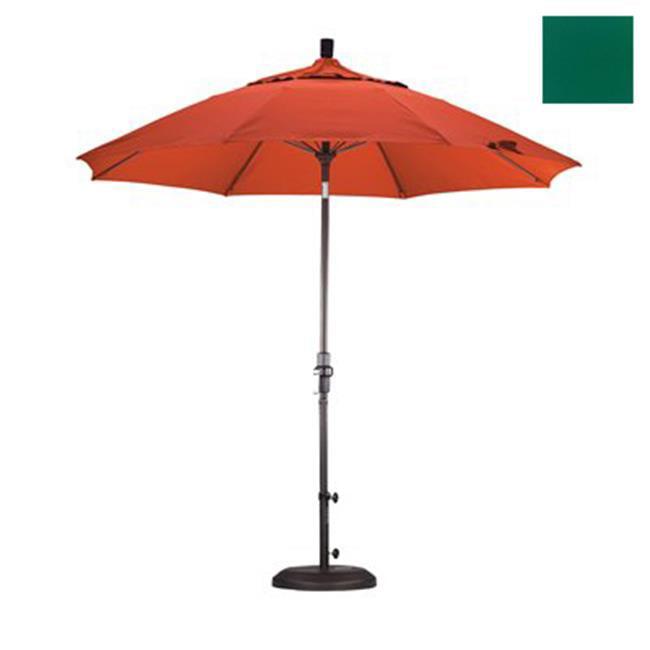 California Umbrella GSCUF908117-5446 9 ft. Fiberglass Market Umbrella Collar Tilt Bronze-Sunbrella-Forest Green - image 1 of 1