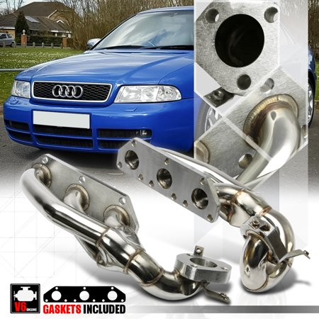 Stainless Steel Exhaust Header Manifold For 97 04 Audi S4 B5a6