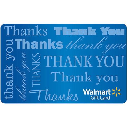 Thank You Text Gift Card   Walmart.com