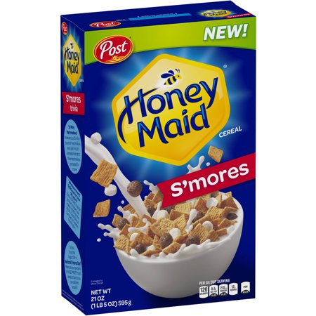 ((2 Pack) Post Honey Maid Graham Breakfast Cereal, S'Mores, 21 Oz)