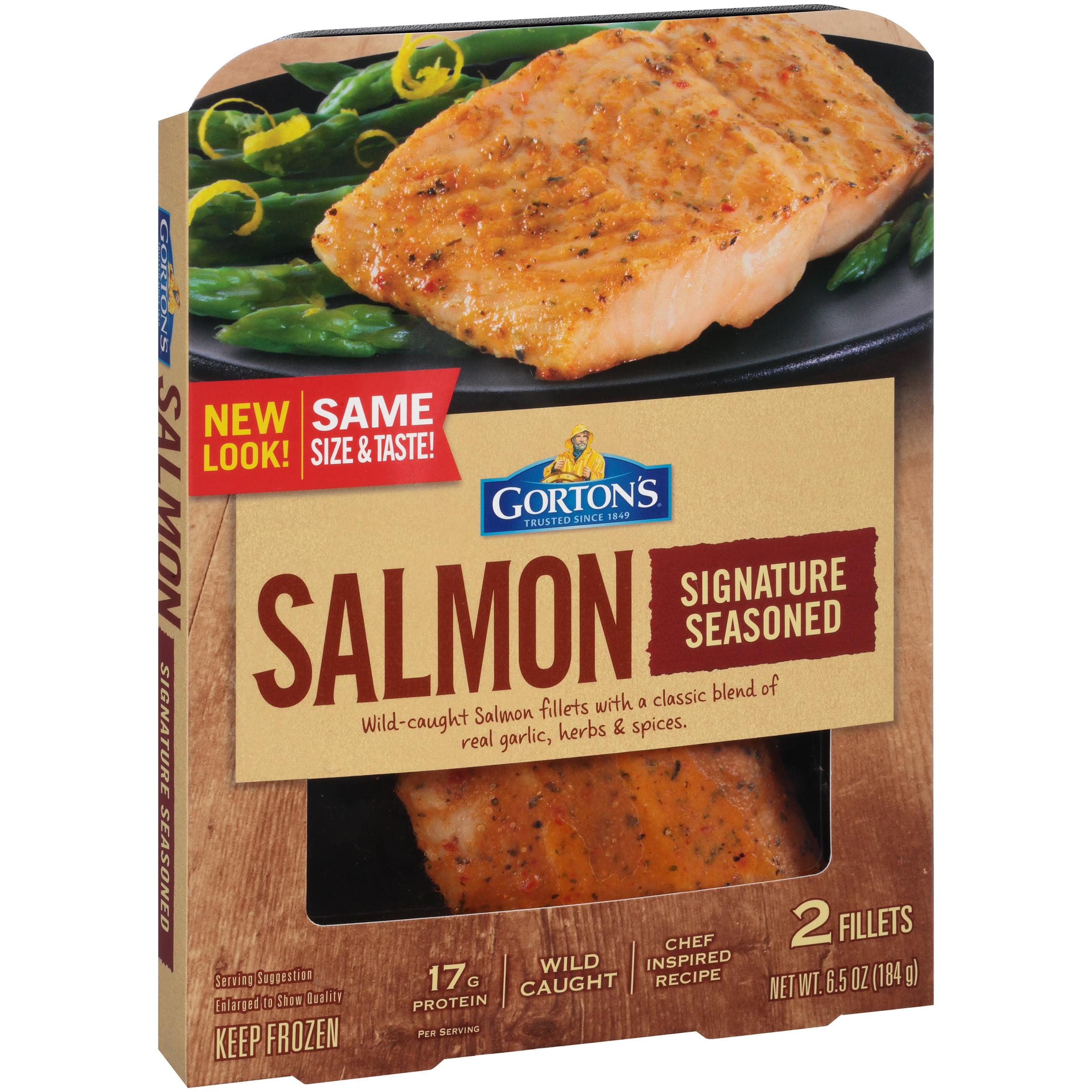 Gorton's Signature Seasoned Salmon, 6.5 oz., 2 ct