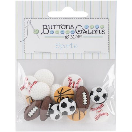 Themed Craft Buttons (Button Theme Pack-Lets Play Ball)