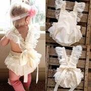 Kids Baby Girls Clothes Lace Ruffle Romper Bodysuit Jumpsuit Sunsuit Outfits