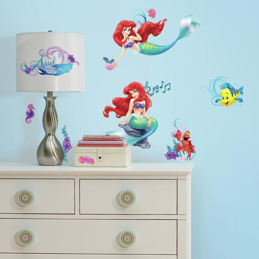 Disney Princess The Little Mermaid Wall Decals 10 ct Package