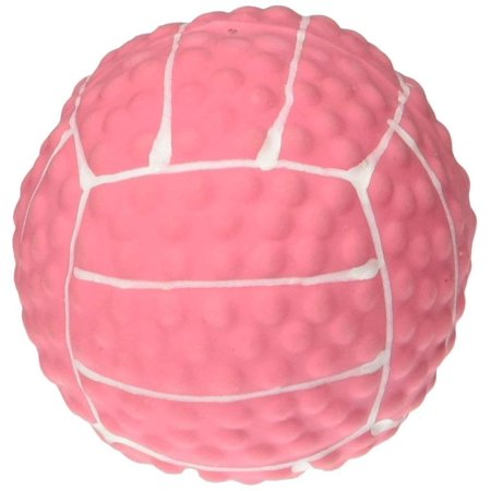 Mini Latex Pink Volleyball Dog Toy, Perfect for puppies and toy breeds By Coastal (Cute Toy Dog Breeds)
