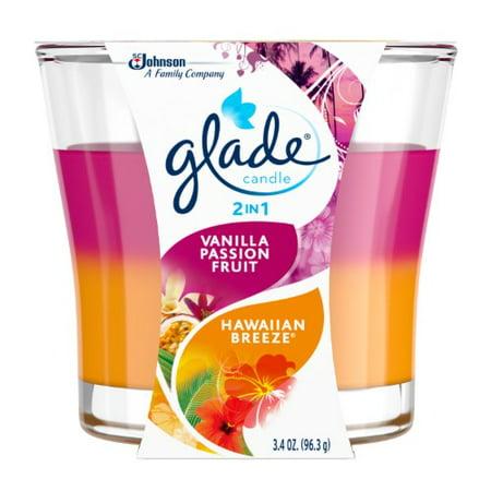 Glade  2 in 1 Candle - Vanilla Passion Fruit & Hawaiian