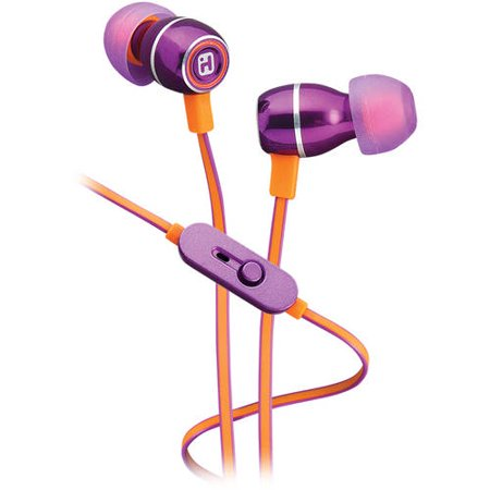 d145b06b3cd iHome Noise-Isolating Metal Earbuds with Microphone - Walmart.com