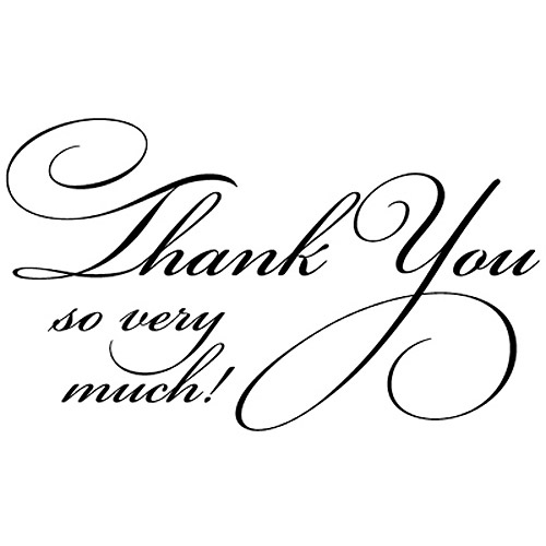 Penny Black Rubber Stamp 1 75 X 2 5 Flourish Thank You