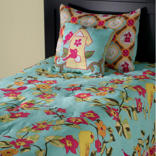 Wildon Home  Birds in Paradise Kids 3 Piece Comforter Set