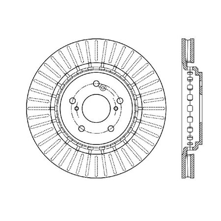 Go-Parts OE Replacement for 2014-2016 Acura MDX Front Disc