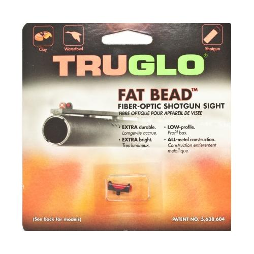 TruGlo Fat Bead Shotgun Replacement Sight, Red, 3-56 Thread -