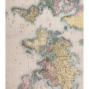 "Craft Consortium Decoupage Papers 13.75""X15.75"" 3/Pkg-World Map"