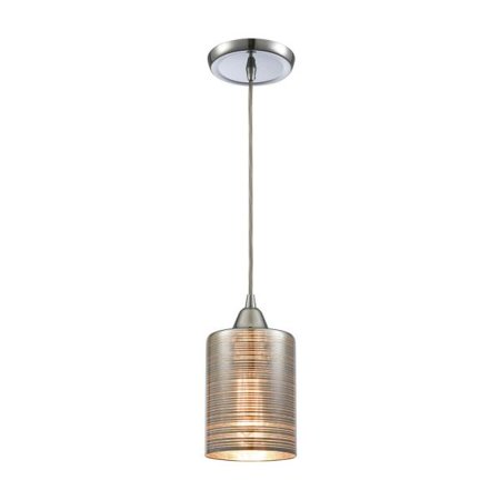 Polished Chrome Plated Finish (Elk Lighting Plated Rings - One Light Pendant, Polished Chrome Finish with Chrome Plated Glass)