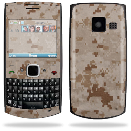 Mightyskins Protective Skin Decal Cover for Nokia X2 X2-01 Cell Phone Sticker Desert Camo