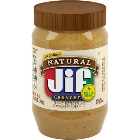 Jif Natural Crunchy Peanut Butter Spread, (Jif To Go Natural Peanut Butter Nutrition)