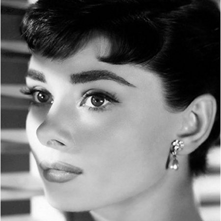GALLERY WRAP Audrey Hepburn Blinds 12x12 Photograph STRETCHED CANVAS - Art Print Poster Wall Decor Hollywood Icon Movie Star Breakfast at Tiffanies - QUALITY ART REPRODUCTION