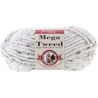 Premier Yarns Mega Tweed Yarn-White Tweed