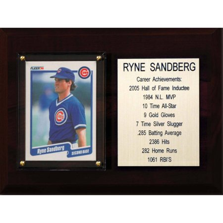C&I Collectables MLB 6x8 Ryne Sandberg Chicago Cubs Career Stat Plaque