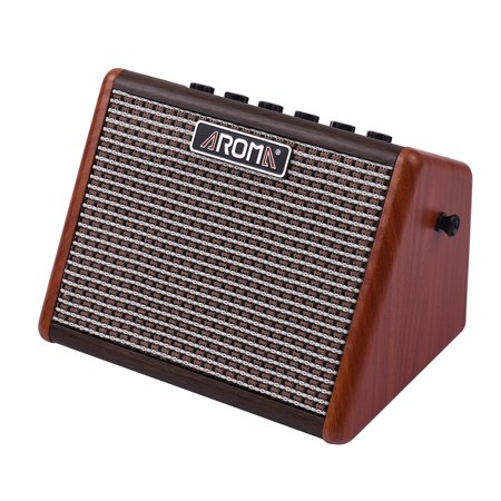 AROMA AG-15A 15W Portable Acoustic Guitar Amplifier Amp BT Speaker Built-in Rechargeable Battery with Microphone
