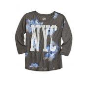 Justice Girls Floral Nyc Embellished T-Shirt