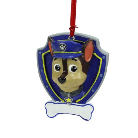 Paw Patrol Christmas Ornament.2 75 Paw Patrol Chase Character Christmas Ornament For Personalization