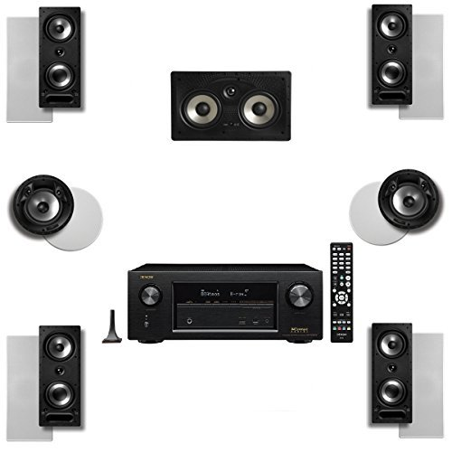 Polk Audio 265RT 7 Speaker System with 80FXRT and Denon AVRX2300W by Polk Audio