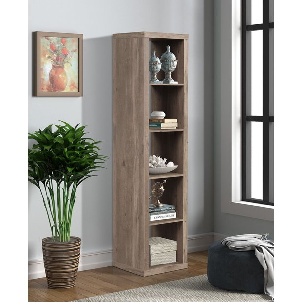 Better Homes & Gardens 5 Cube Storage Organizer -Nature Finish