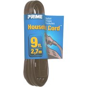 Prime Wire 9-Foot 16/2 SPT-2 3-Outlet Indoor Cord, Brown