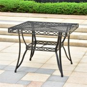 International Caravan Segovia Square Iron Patio Dining Table