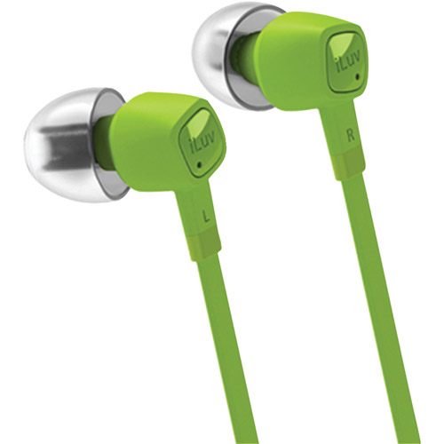 iLuv jetTurbo iEP385 High-Performance Earphones with SpeakEZ Remote, Green