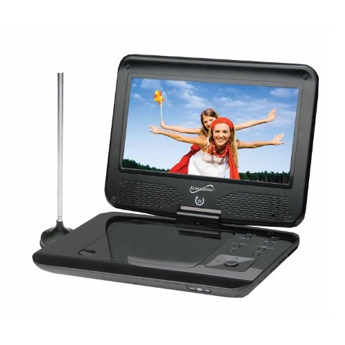 Supersonic SC-259 9 TFT Portable DVD/CD/MP3 Player with TV Tuner, USB & SD Card Slot