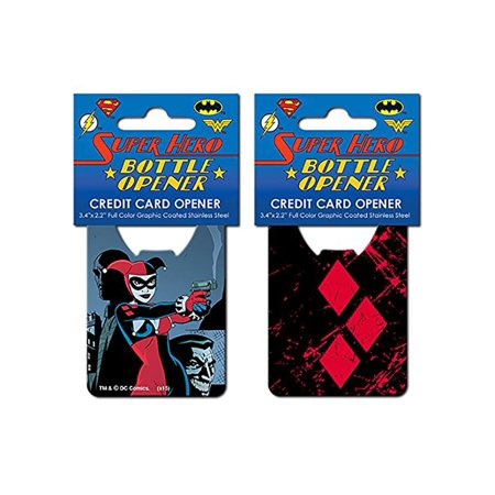 DC Comics Harley Quinn Iconic Credit Card Bottle Opener](Personalized Credit Card Bottle Opener)