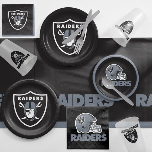 Oakland Raiders Game Day Party Supplies Kit