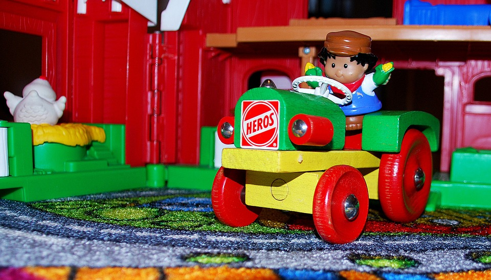 LAMINATED POSTER Boy Plastic Toys Fun Tractor Play Kid Farm Poster Print 24 x 36 by