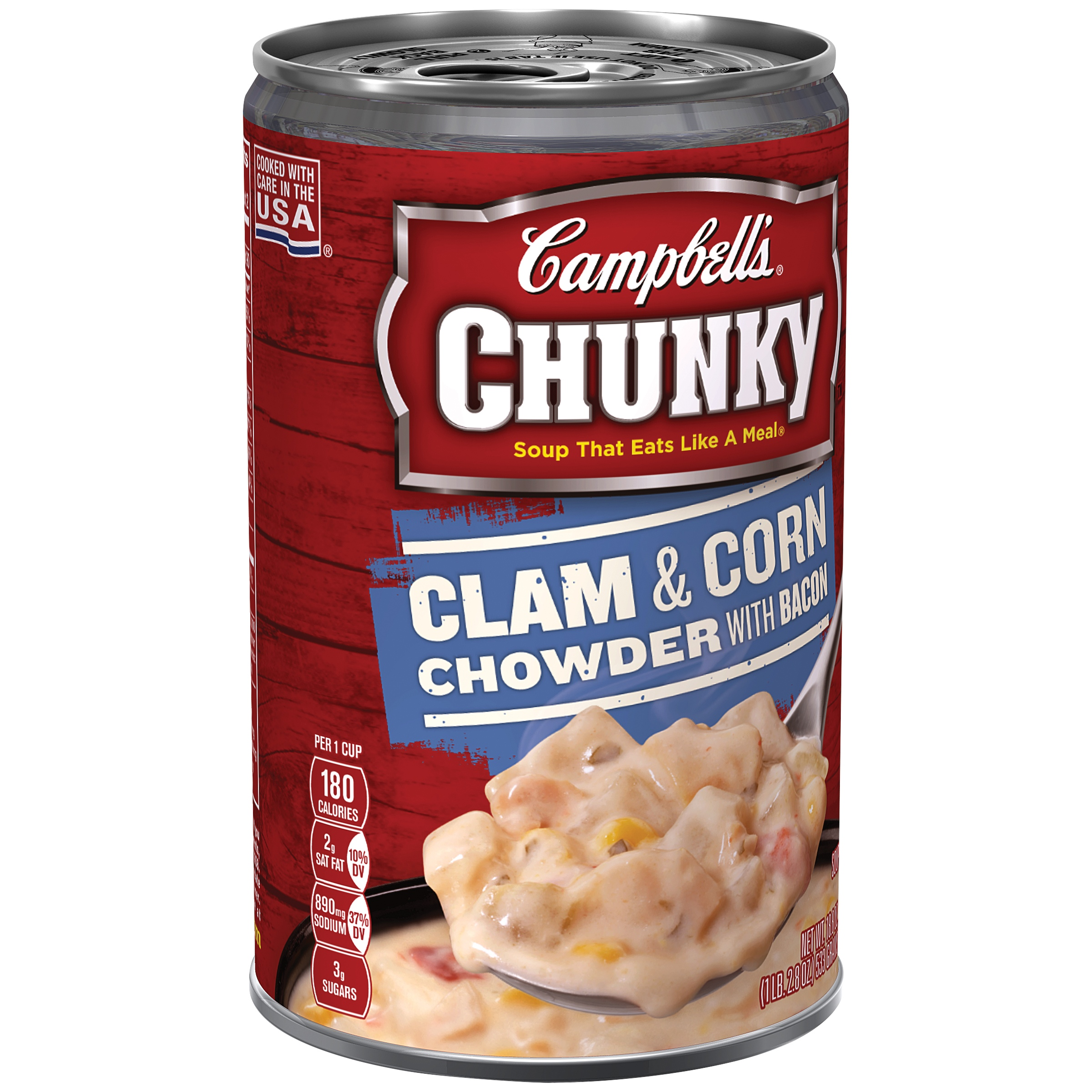 Campbell's Chunky Clam & Corn Chowder with Bacon Soup, 18.8 oz by Campbell Soup Company