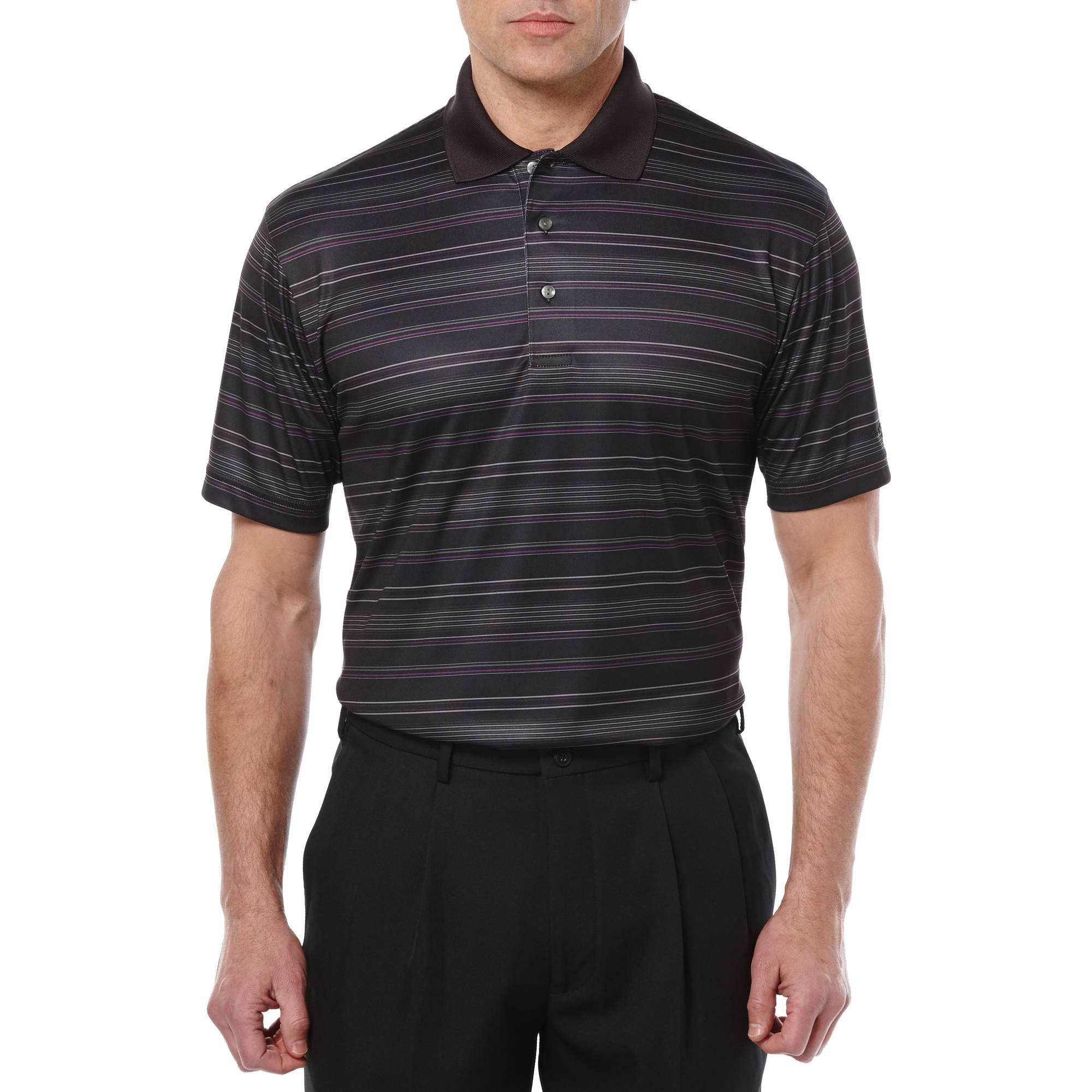 Ben Hogan Performance Big Men's Fine Line Stripe Polo Shirt