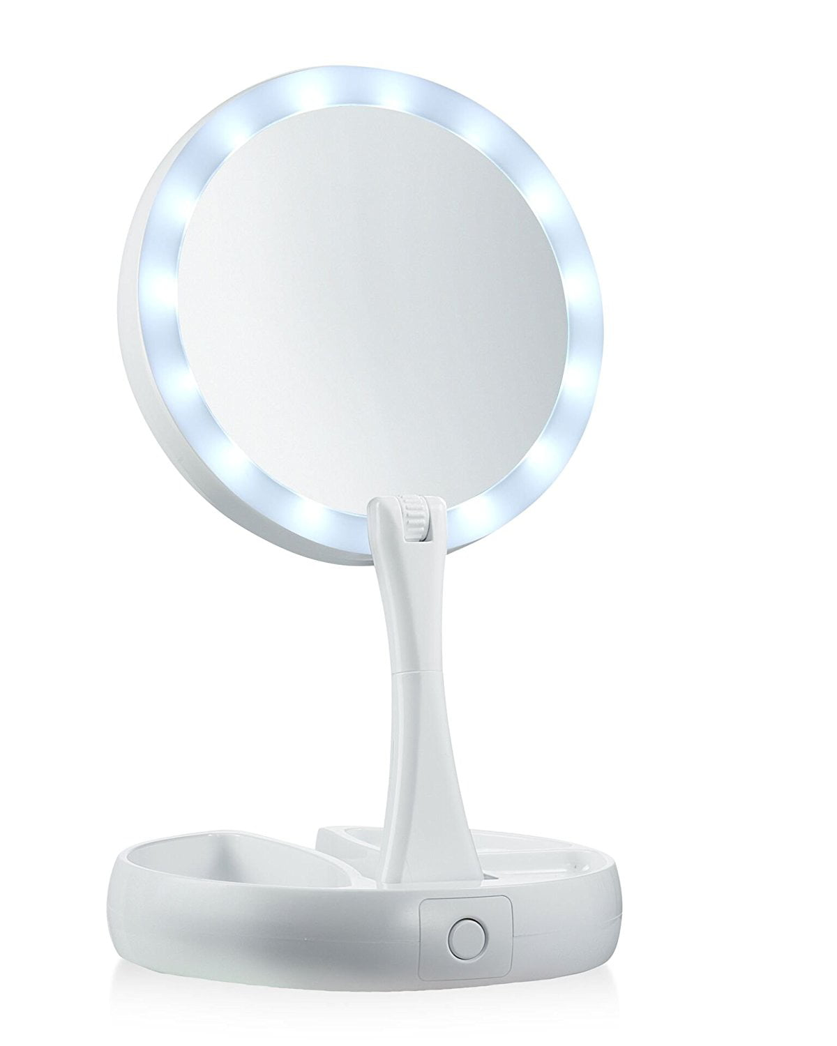 As Seen on TV Foldaway Mirror with Double Sided Light and 10x Magnification