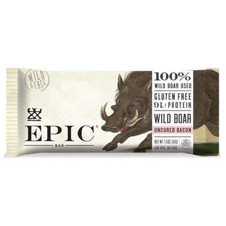 Epic - Bar - Wild Boar - Uncured Bacon - Case Of 12 - 1.5 (Best Grocery Store Bacon)