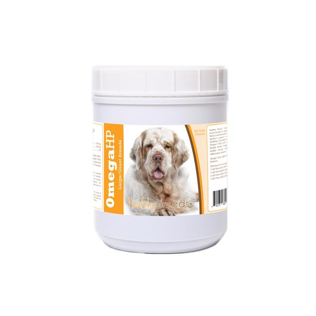 Healthy Breeds 840235188018 Clumber Spaniel Omega HP Fatty Acid Skin & Coat Support Soft Chews - image 1 of 1