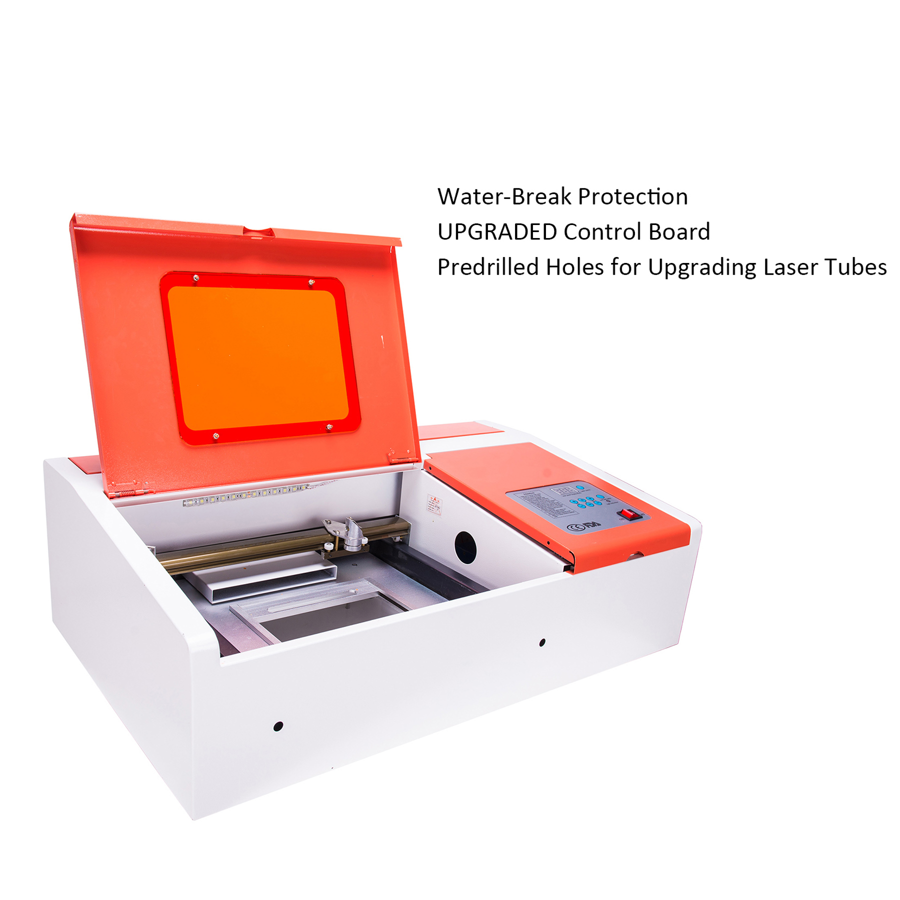 UPGRADED 40W CO2 Laser Engraver Engraving Machine Water-Break Protection USB