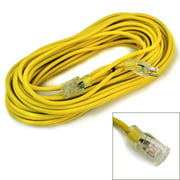 100' 14 Gauge Electric Extension Cord 3 Prong Power Cable In/Outdoor STJW UL GLO