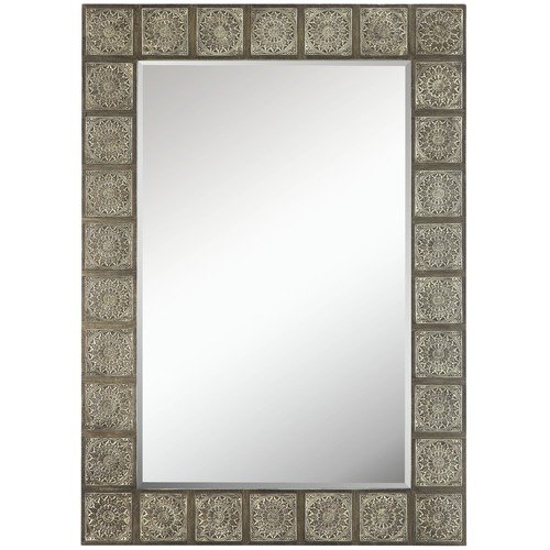 Cooper Classics Perry Mirror in Distressed Burnished Silver