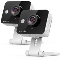 Zmodo 720P HD WiFi Wireless Smart Security Camera Two-Way Audio(2- Pack), Work with Google Assistant