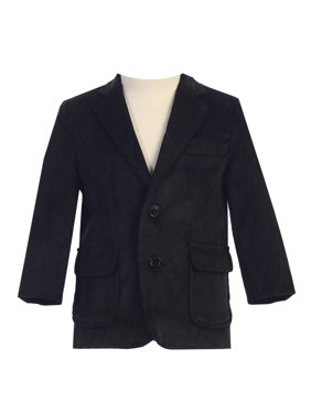 Big Boys Black Two Button Corduroy Blazer 12