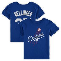 Cody Bellinger Los Angeles Dodgers Majestic Preschool Player Cap Logo Name & Number T-Shirt - Royal