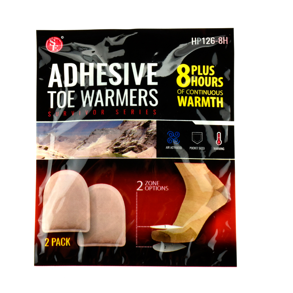 8 Pairs Adhesive Back Toe Foot Warmers 8 Hour Pure Heat Air Activated Exp 11/18