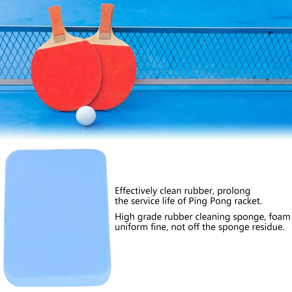 Tennis Racket Care Cleaning Sponge Paddle Racket Rubber Care Accessories